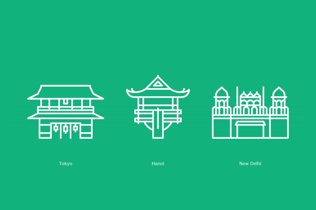 Hozomon Gate, One Pillar Pagoda, Red Fort