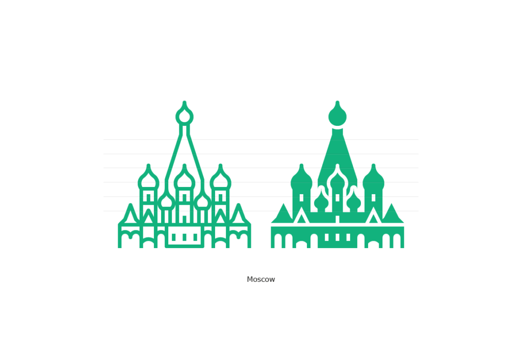 Moscow - Saint Basil's Cathedral Icon