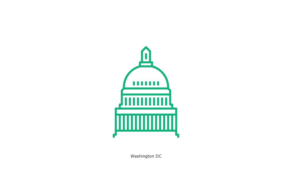 Washington DC Capitol Building Icon