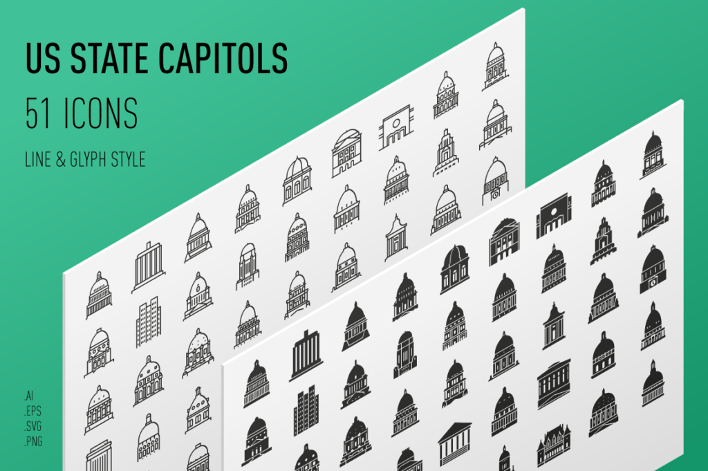 Capitol Buildings of the United States - Landmark Icons