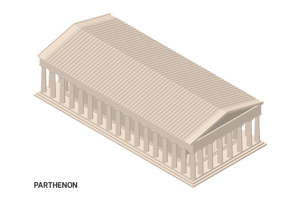 Parthenon - Isometric Illustration