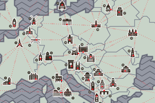 European Capitals Map Preview