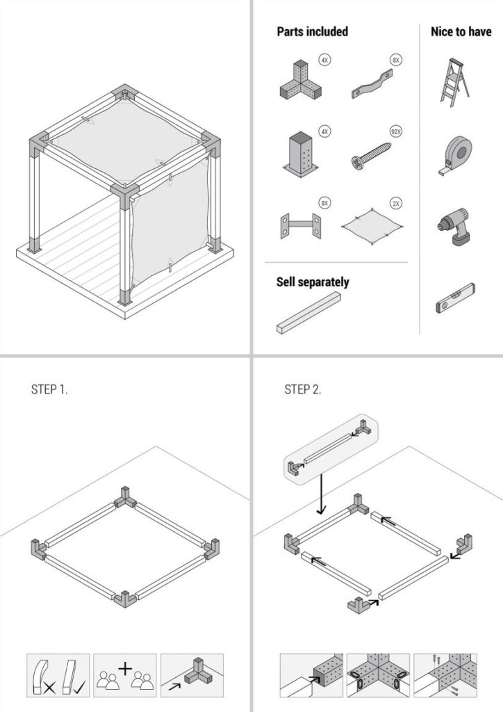 Assembly guide illustrations